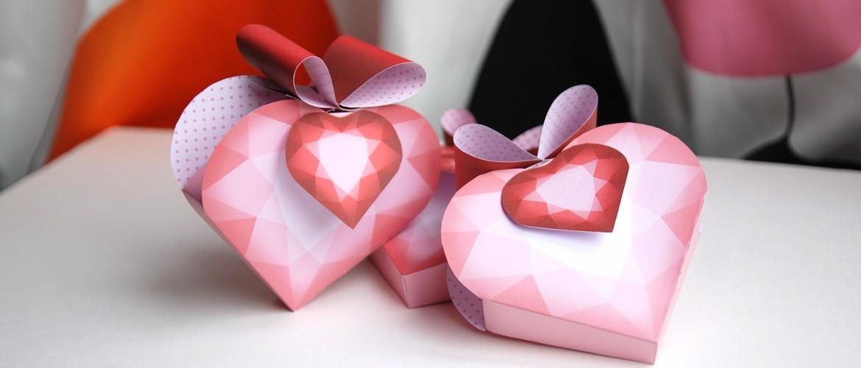 Bo te cadeau c ur de diamant saint valentin papier bonbon - Creation saint valentin ...