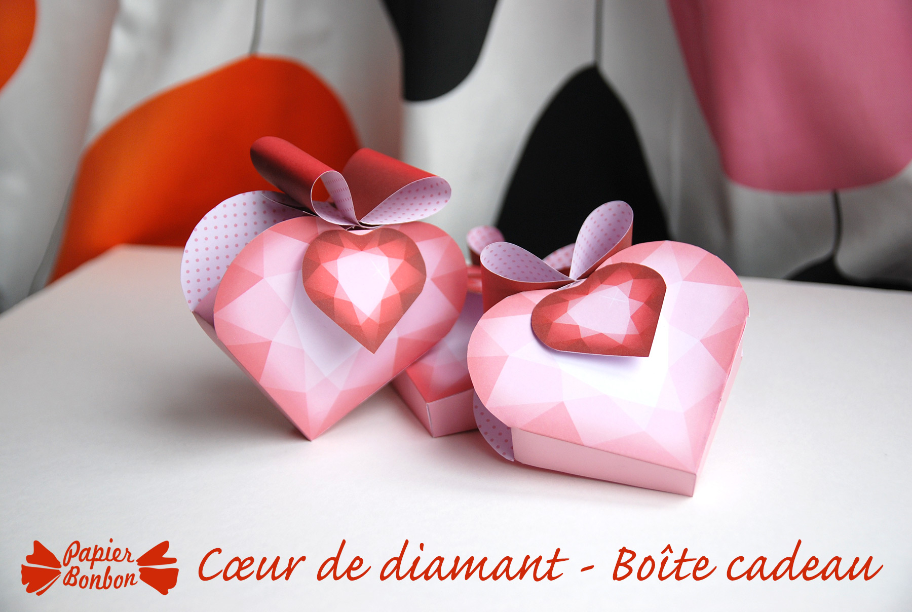 bo te cadeau c ur de diamant saint valentin papier bonbon. Black Bedroom Furniture Sets. Home Design Ideas