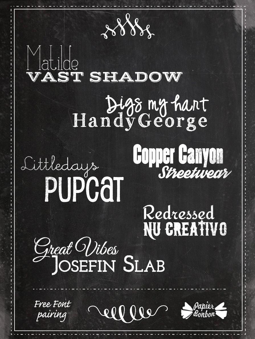 Fonts pairing & Gandhi inspirational quote printable