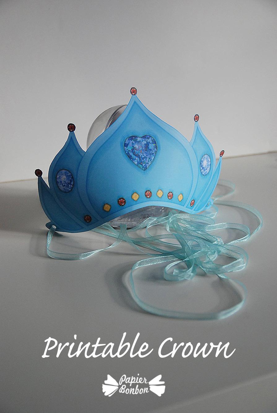Printable Crown Quot Frozen Blue Quot Papier Bonbon