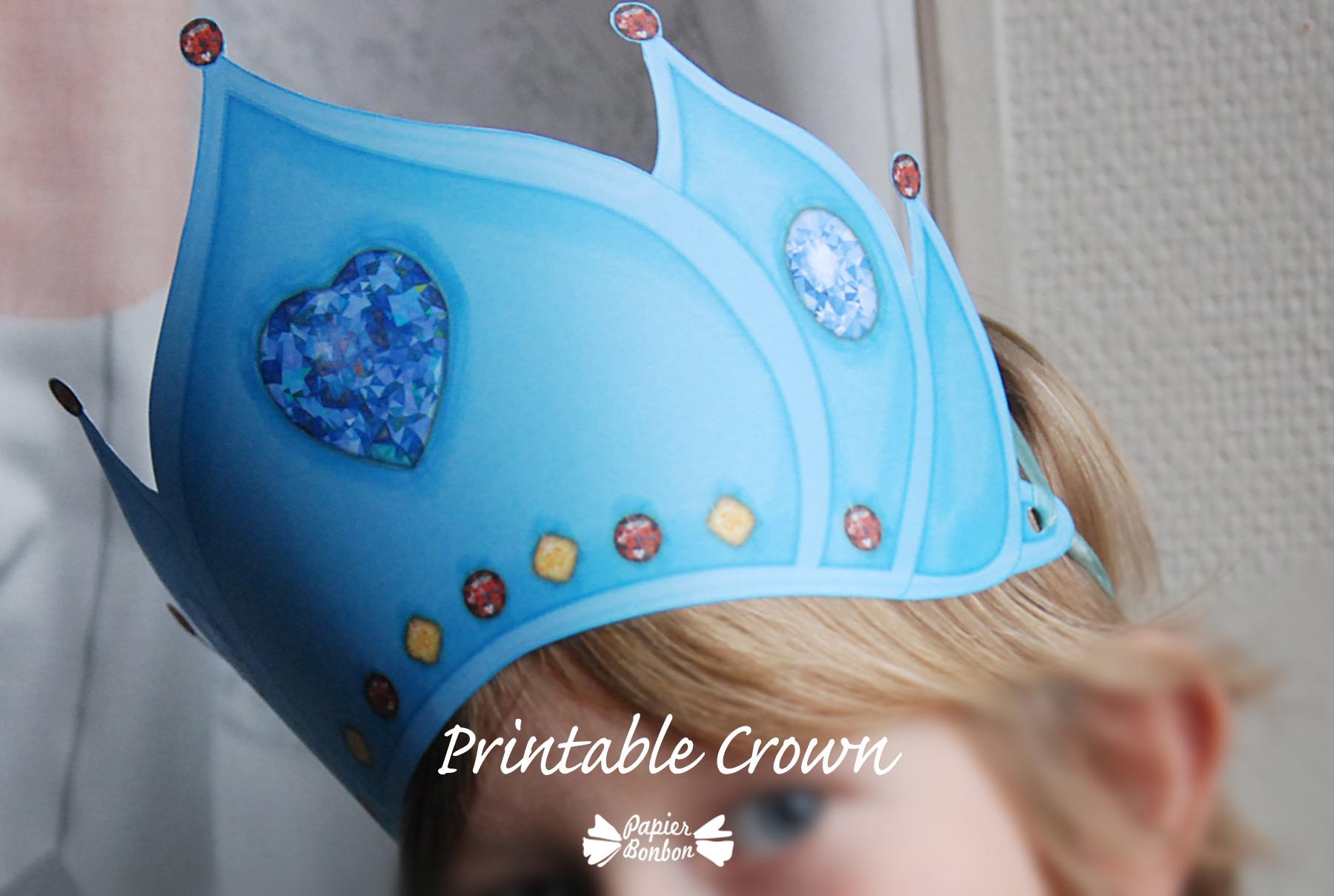 printable crown  u0026quot frozen blue u0026quot