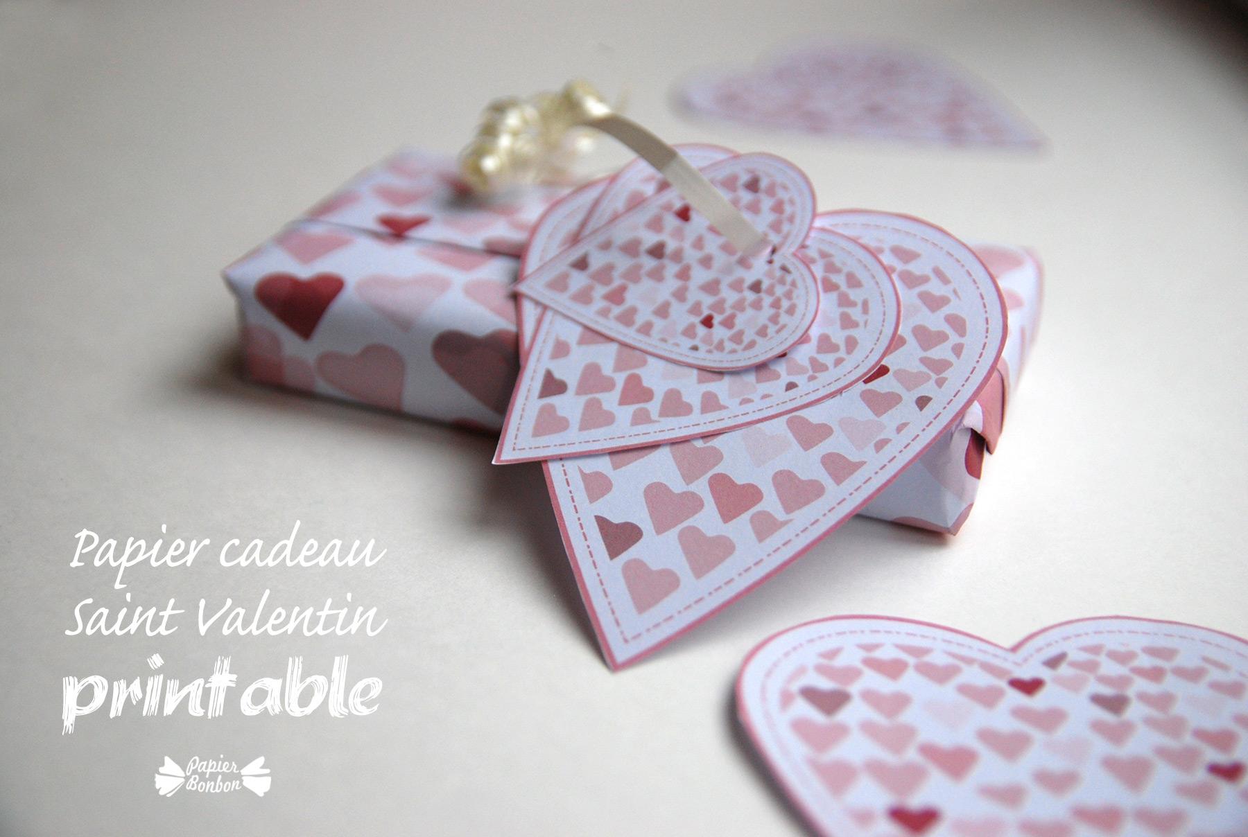 Printable saint valentin papier cadeau tiquettes - Cadeau derniere minute saint valentin ...