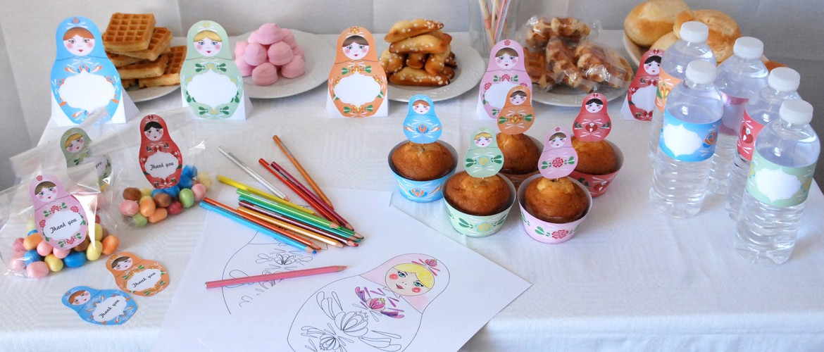 Matryoshka Party supplies - Birthday kit