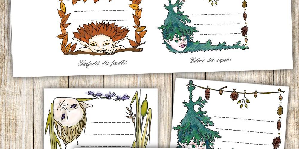 Fairy tags printables