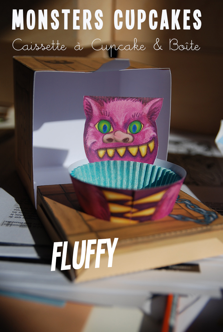 kit diy bo te cupcake monster cupcake papier bonbon. Black Bedroom Furniture Sets. Home Design Ideas
