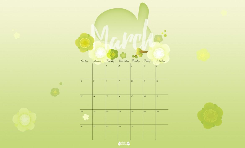 March Calendar Wallpaper Hd : March printable calendar bunny boxes papier bonbon