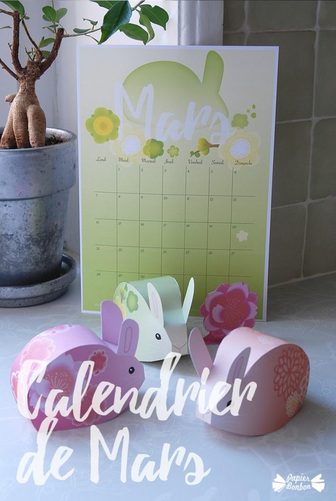 calendrier de mars printable les boites lapins papier bonbon. Black Bedroom Furniture Sets. Home Design Ideas