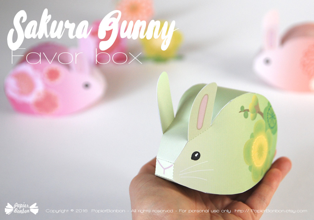 Boîtes lapins DIY de Papier Bonbon