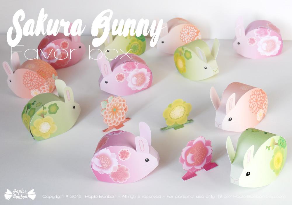 Papier bonbon Bunny DIY gift box