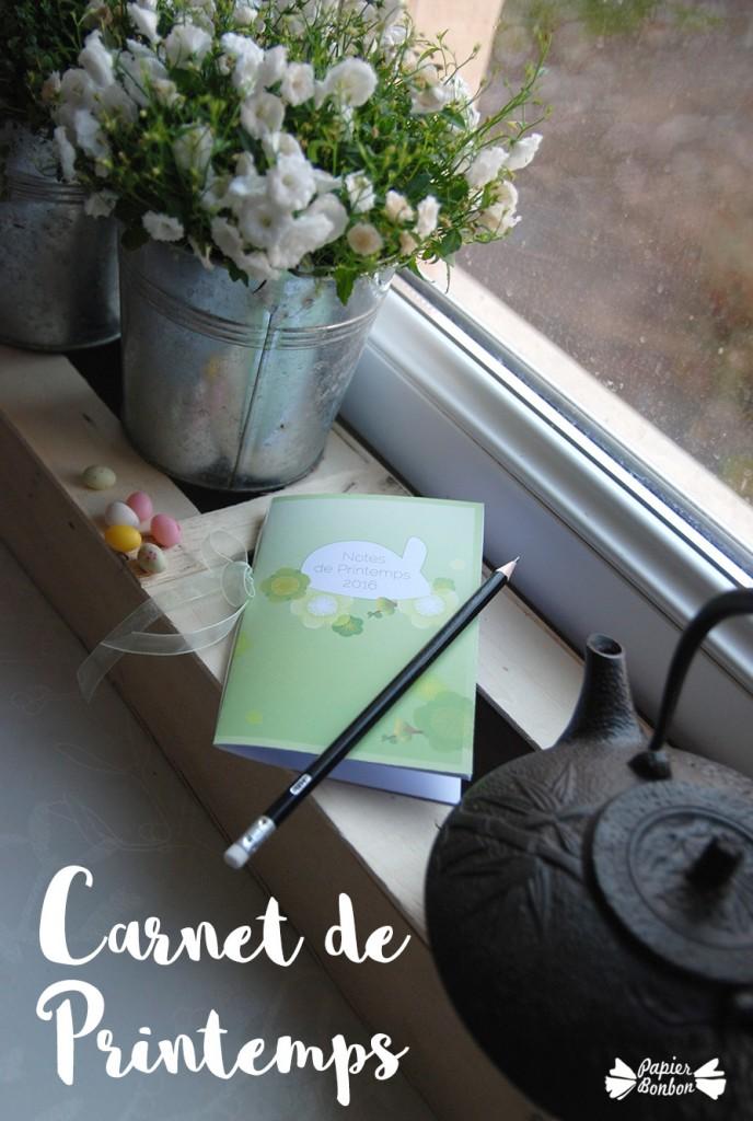 carnet de printemps printable papier bonbon. Black Bedroom Furniture Sets. Home Design Ideas