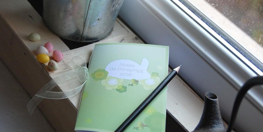 Mini carnet gratuit à imprimer thème Printemps