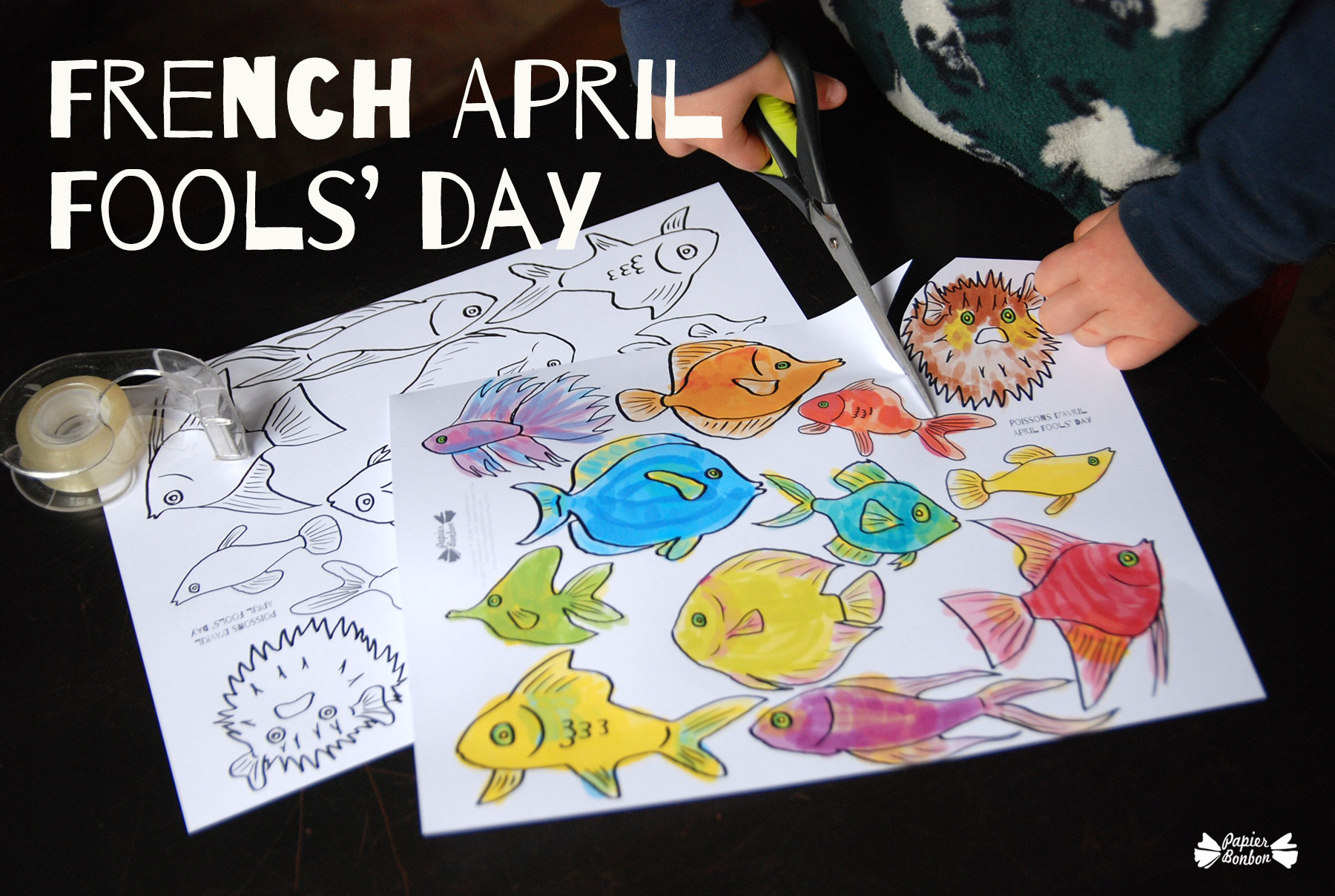 French April Fools 39 Day Tricky fishes Papier Bonbon