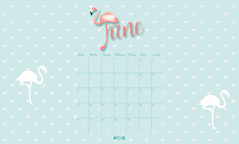 Flamingo Printable calendar - Papier Bonbon