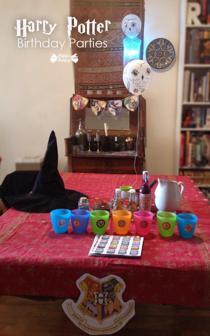 Harry potter birthday parties printables papier bonbon for Decoration harry potter