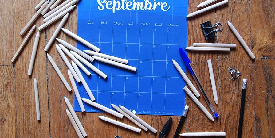 Calendrier de Septembre - Fin de saison