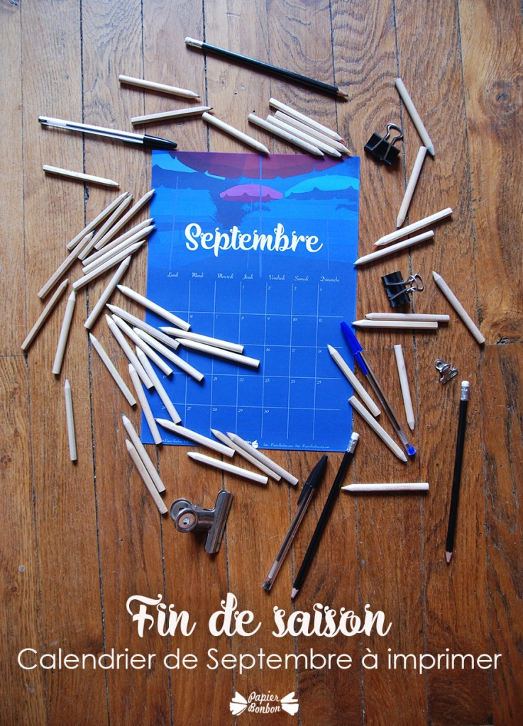 calendrier de septembre 2016 à imprimer