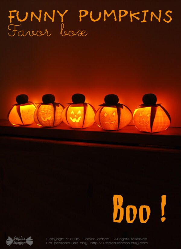 Boîte citrouille - Pumpkin gift box