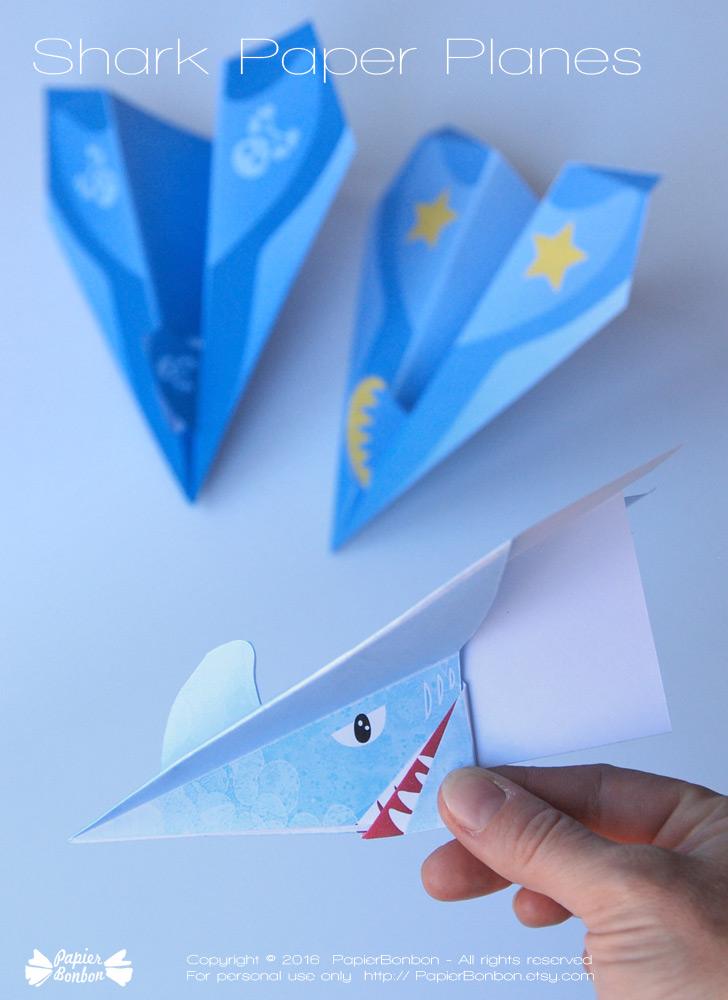 Avion en papier requin