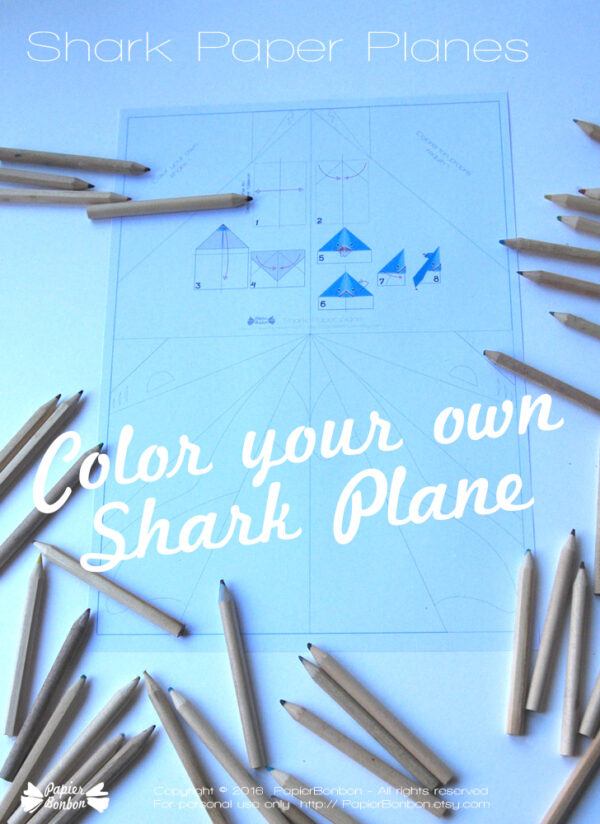 Shark paper airplanes