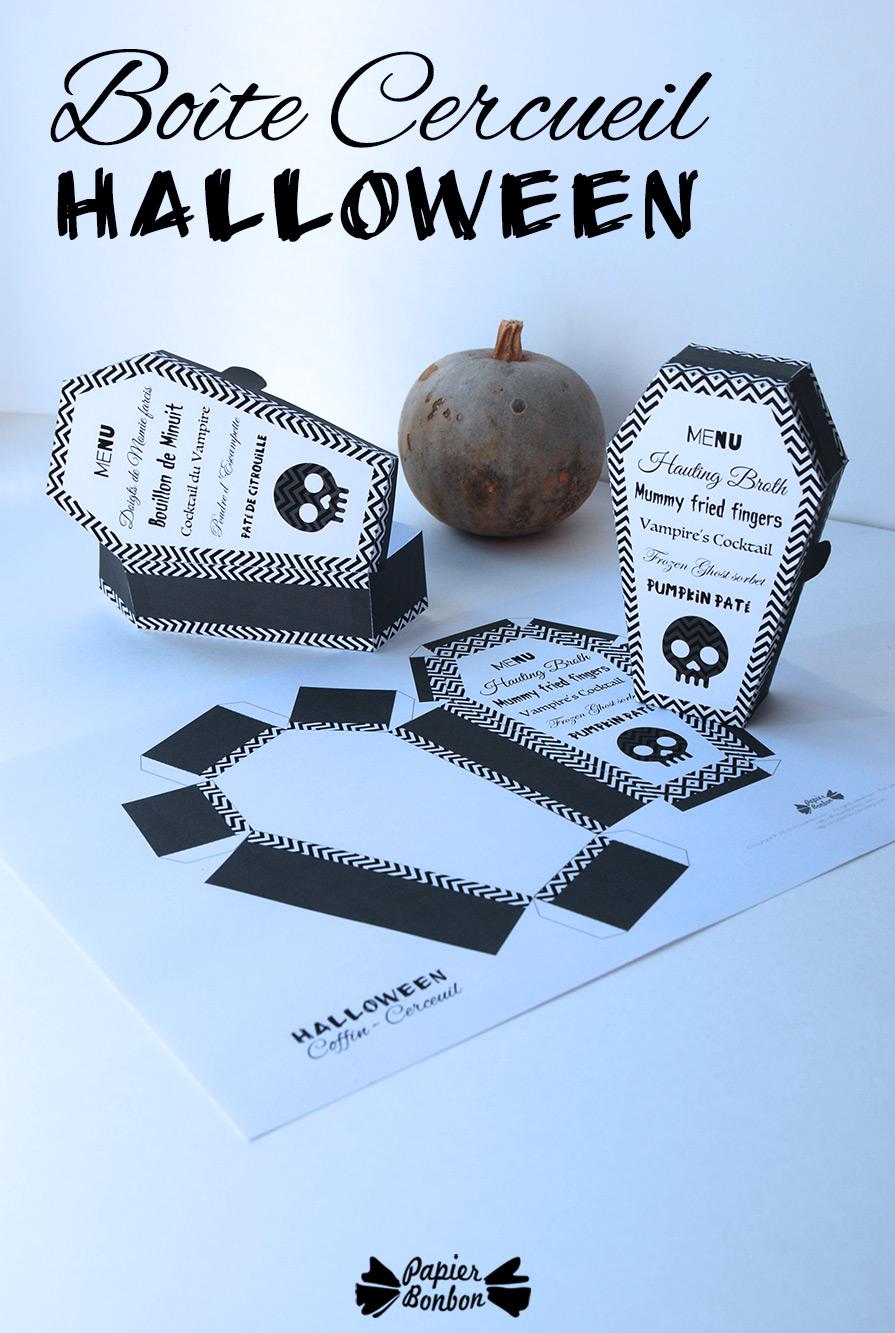 Bo te cadeau cercueil d co d 39 halloween papier bonbon for Deco halloween a imprimer