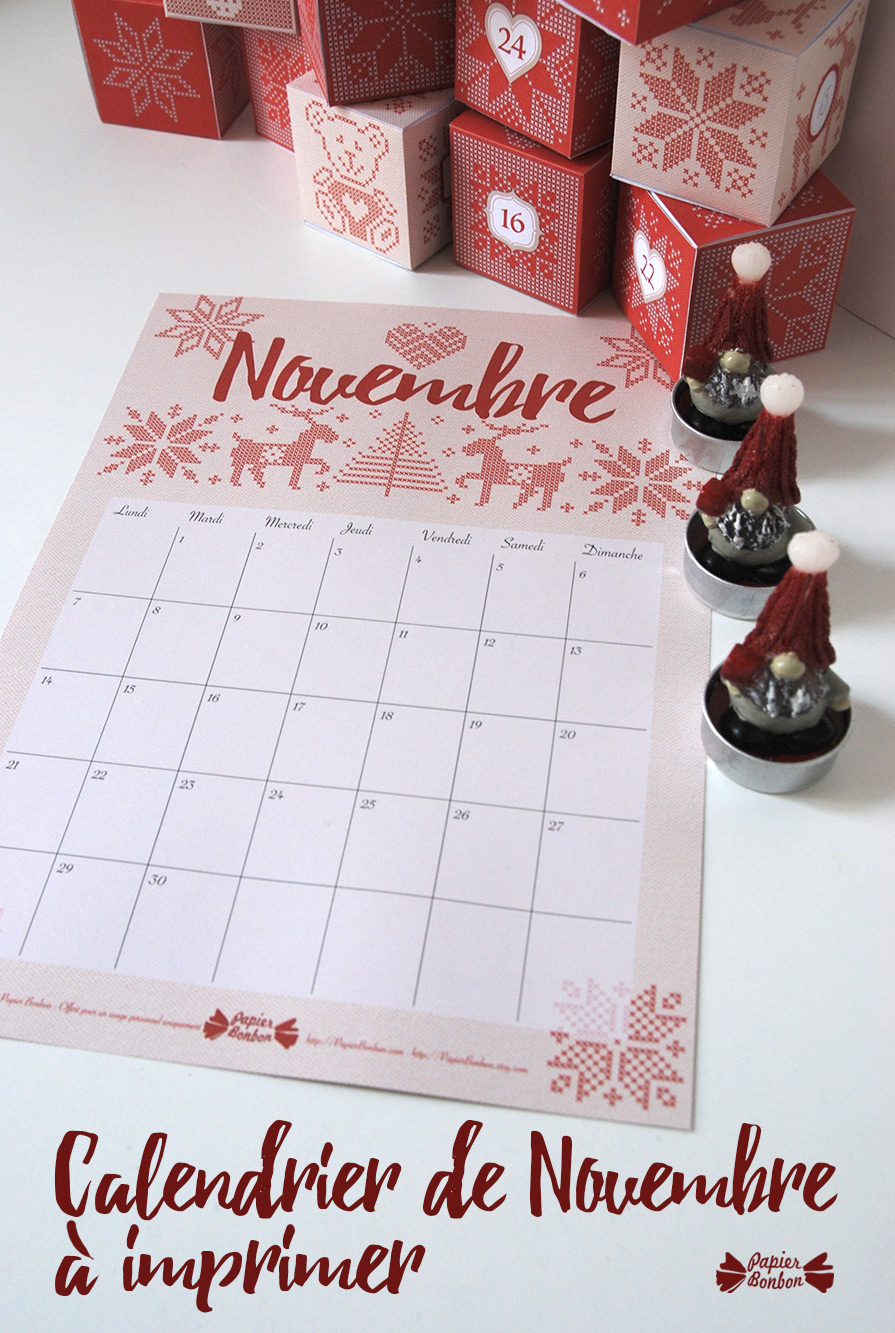 Calendrier Novembre - Broderies Scandinaves