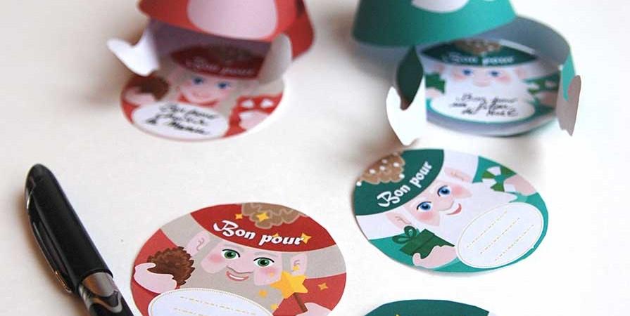 Printable gnomes gift voucher for Advent Calendar