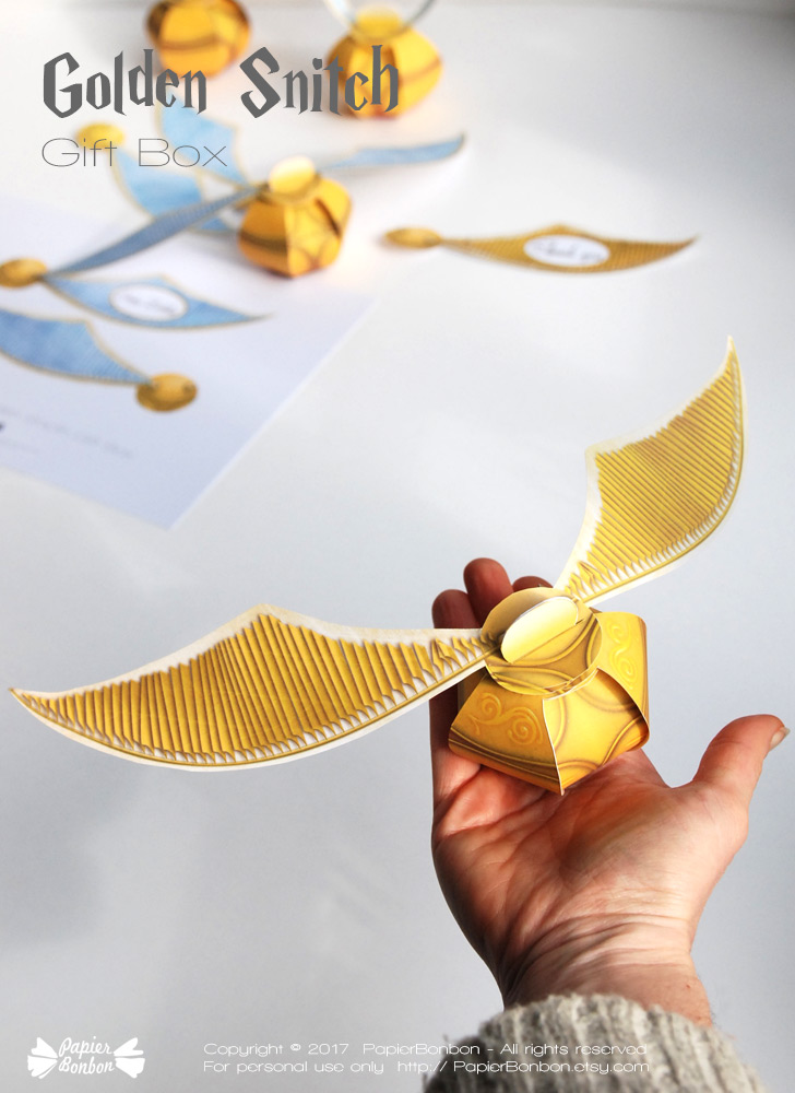 golden snitch gift box harry potter papier bonbon