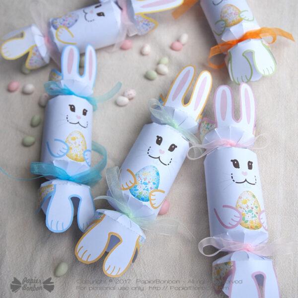 Crackers lapins - boîte décoration de Pâques - Papier Bonbon