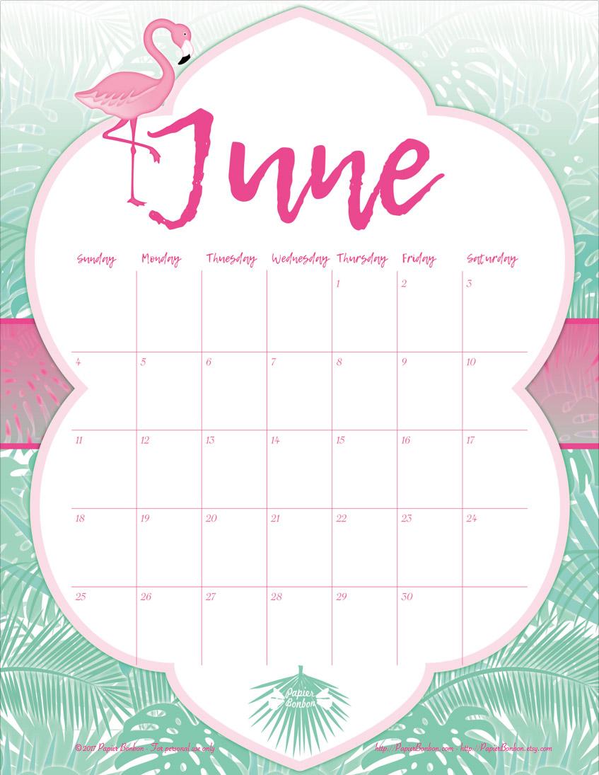 June The Calendar Dhmis : June printable calendar papier bonbon