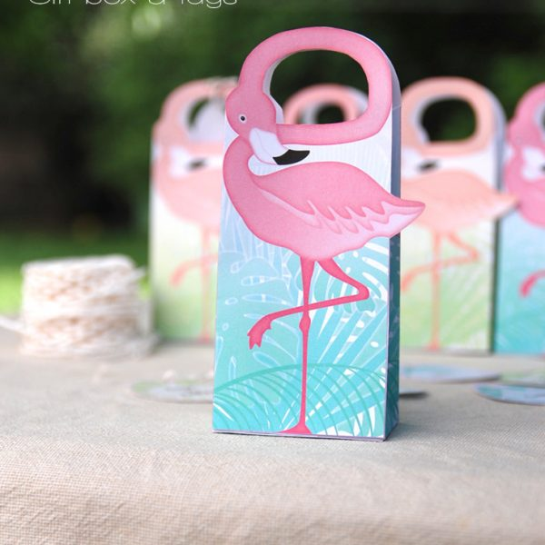 Boîte flamand Rose / Flamingo gift-box