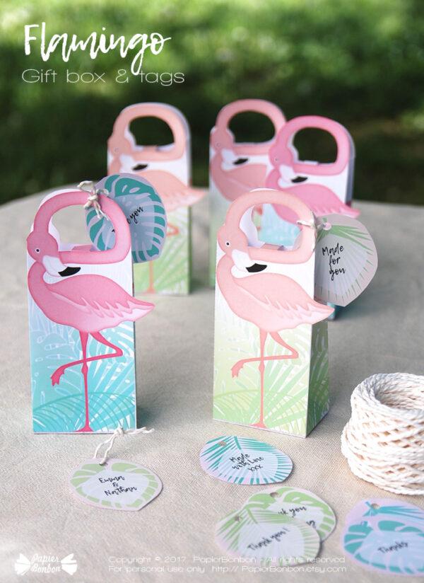 Boîte flamand Rose / Flamingo gift-box