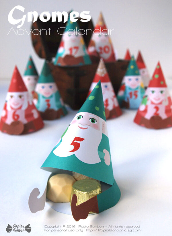 calendrier avent gnomes / Gnome advent calendar