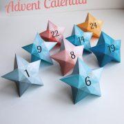 Calendrier avent étoiles / Advent calendar Stars