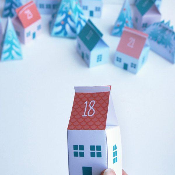 Advent calendar Tiny Village - Calendrier de l'Avent Petit Village