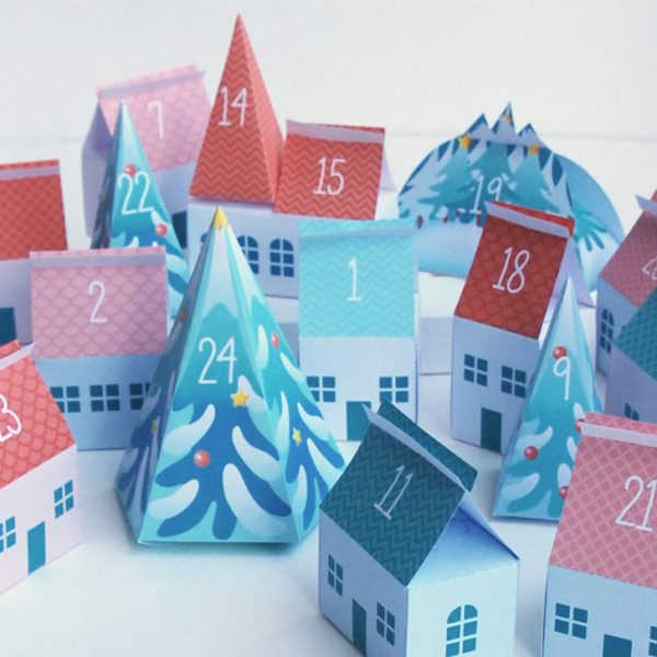 Advent calendar Tiny Village - Calendrier de l'Avent Petit Village