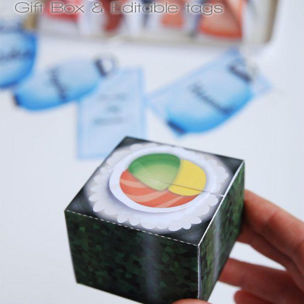 Boîte cadeau sushi / sushi gift box