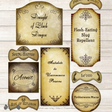 image relating to Printable Potion Labels named Editable Potion Labels - Harry Potter structure