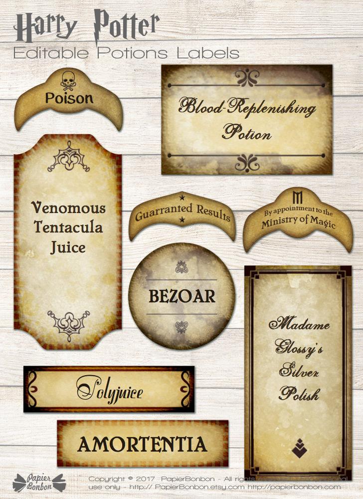 Assez Anniversaire Harry Potter - Printables - Papier Bonbon FM94
