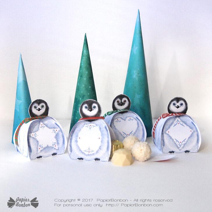 Personnalisé noël tree décoration ornement candy cane penguin