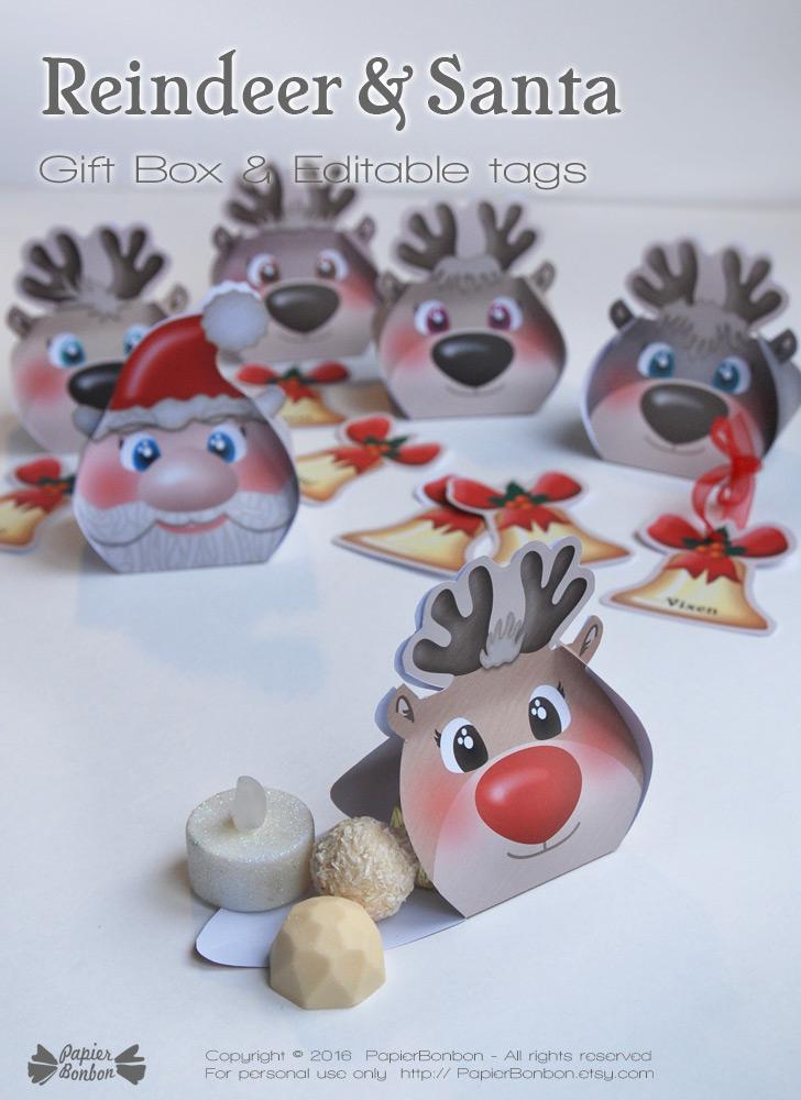Reindeer gift box / Boîtes cadeaux Renne