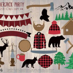 Lumberjack |Clip arts thème Bûcheron
