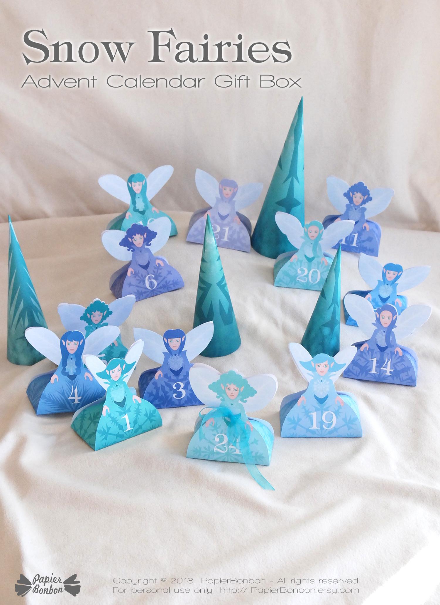 Calendrier de l'Avent fées des neiges | Advent Calendar Snow Fairies
