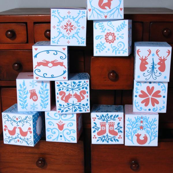 Calendrier de l'Avent motifs scandinaves | Scandinavian Advent Calendar