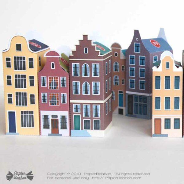 Calendrier de l'Avent Amsterdam à imprimer - Noël dans la ville