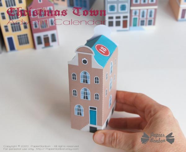 Calendrier de l'Avent Amsterdam à imprimer