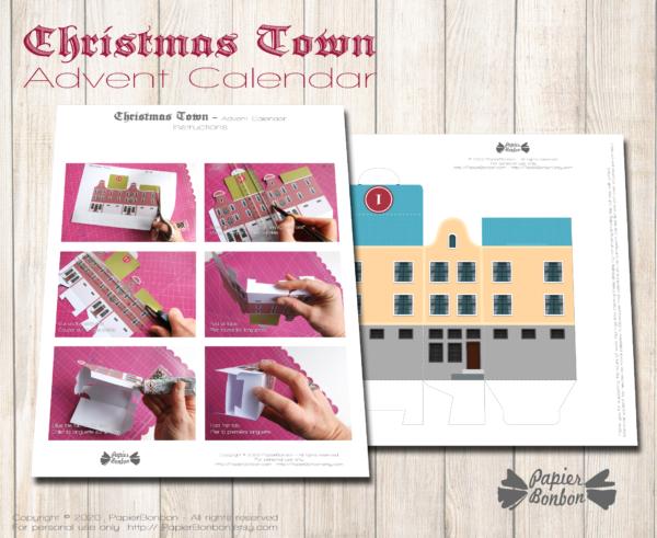 Calendrier de l'Avent Amsterdam à imprimer - Noël dans la ville Instructions facile