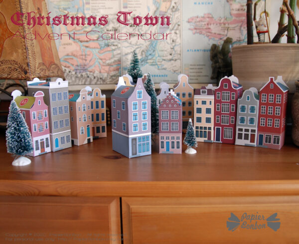 Calendrier de l'Avent DIY Amsterdam à imprimer - Noël dans la ville