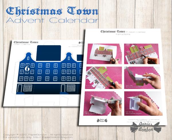 Calendrier de l'Avent Bleu Amsterdam à imprimer - Nuit Noël dans la ville Instructions