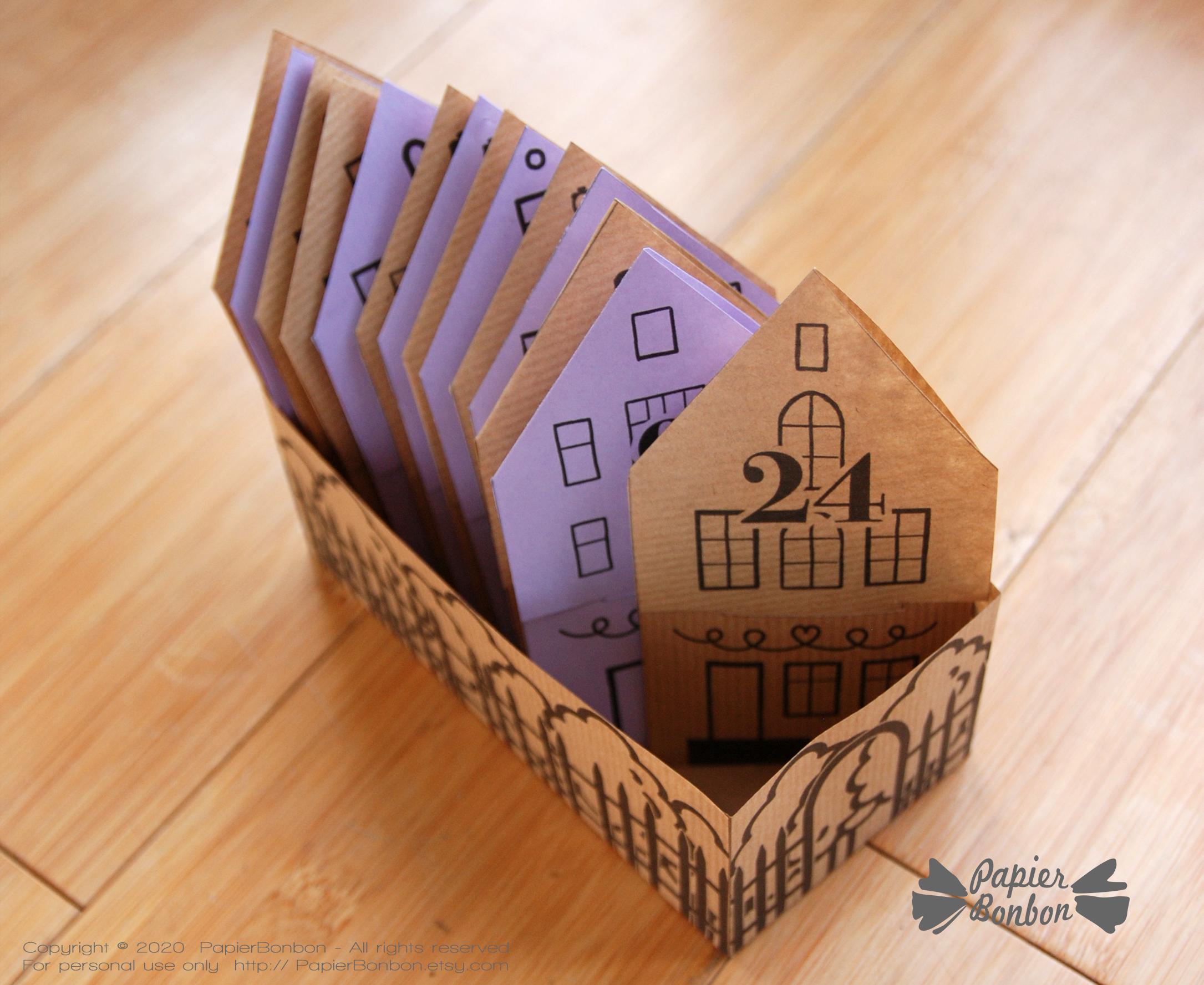 Calendrier Avent sachet thé infusions - Tea bag Advent Calendar DIY