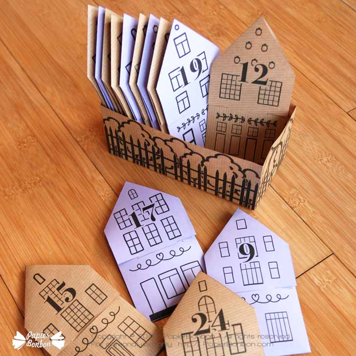 Calendrier Avent sachet thé infusions - Tea bag Advent Calendar DIY